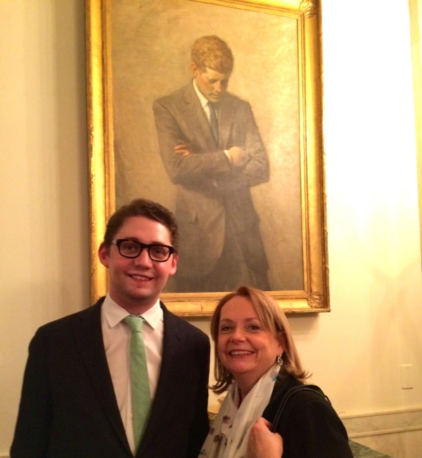 For the great granddaughter (me) and great, great grandson (my son, Dan) of Irish immigrants it was an honor to celebrate St. Patrick's Day at the White House.