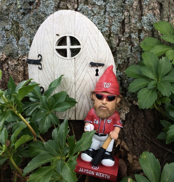 I left my house at 4 p.m. for a 7 o'clock game to get in line for a Jason Worth garden gnome (so  worth  it, ha ha!)  I'm told the gnomes are  going  for $100 on E-bay but mine is not for sale.