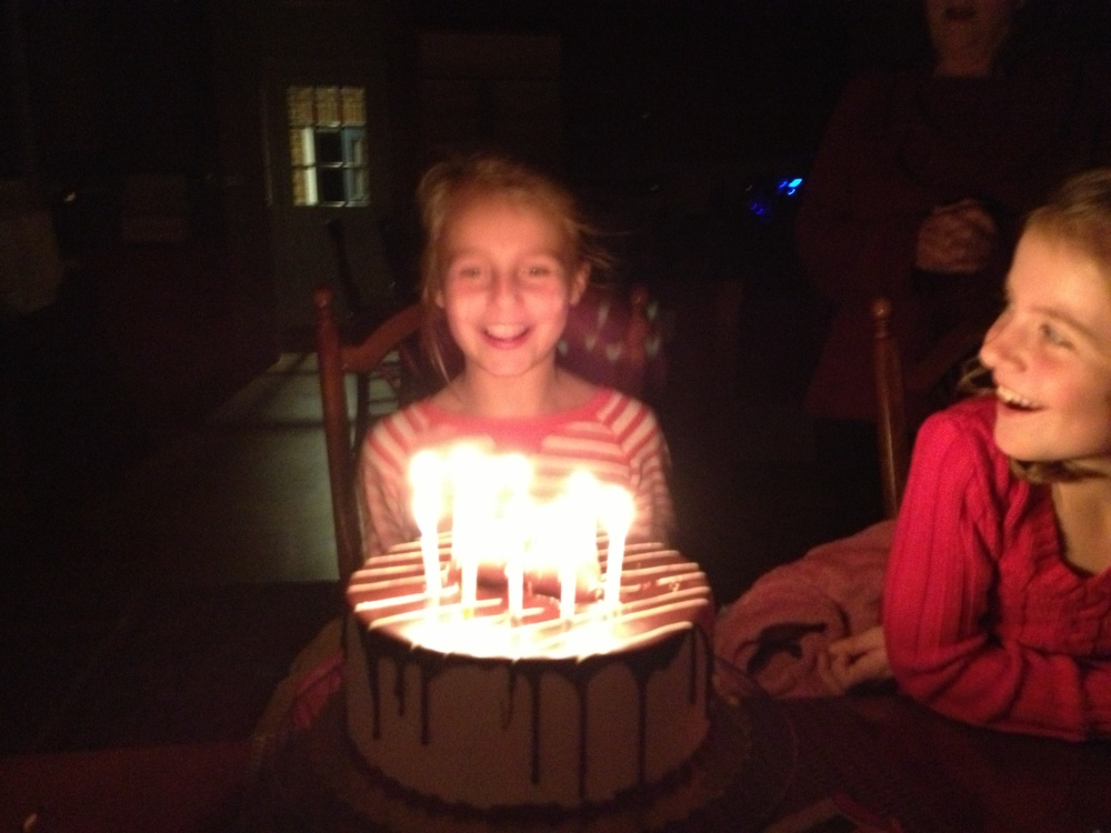 The Unsinkable Blog is one year old today, and this out-of-focus photo of the granddaughters captures the celebratory feeling of birthdays!