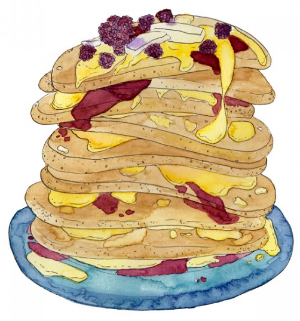 From Marcelle Kriebel: Blackberry Honey Butter Pancakes
