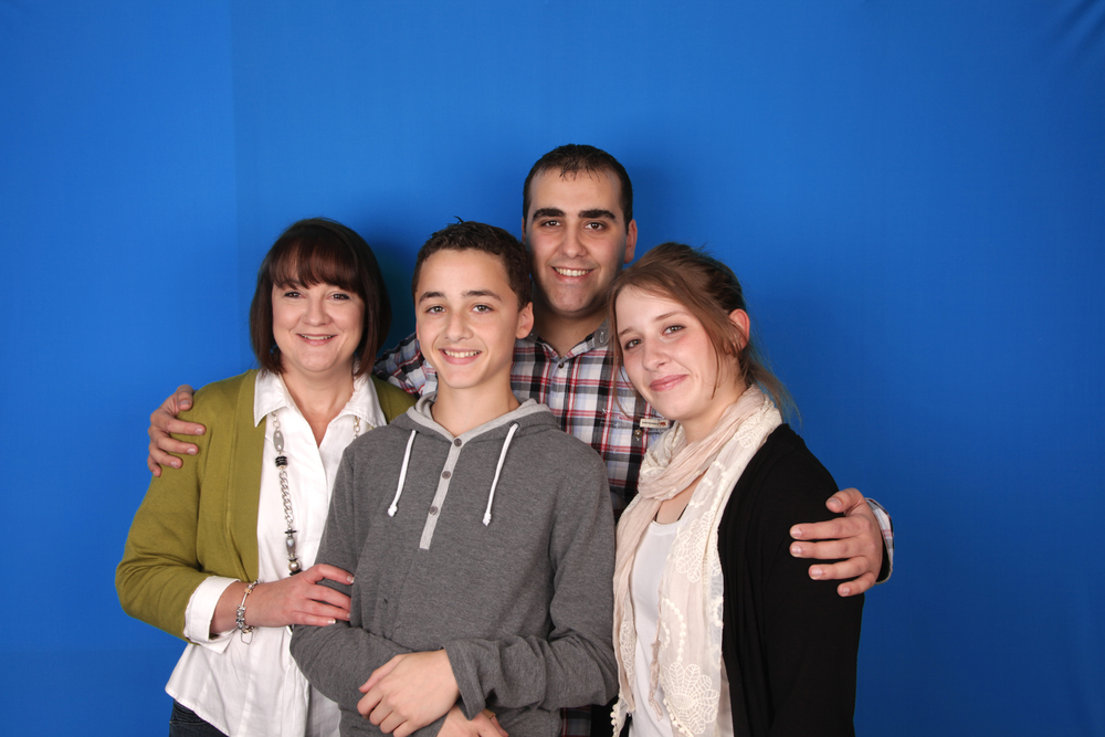Family booth shot