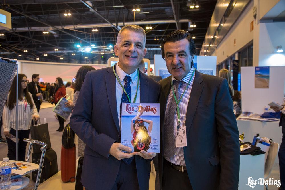 """El director insular de Turismo, Vicent Torres Ferrer, """"Benet"""", juanto a Juanito de Las Dalias"""