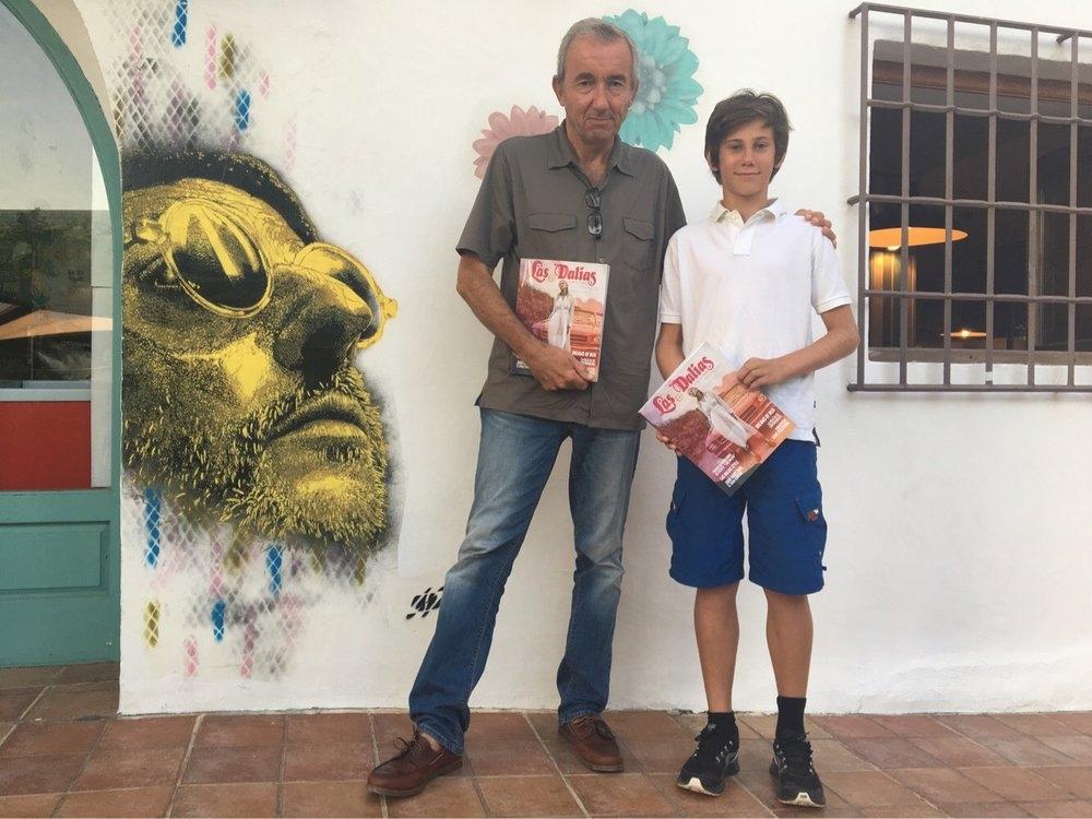Gonzalo Calcedo y Kian Taber, ganadores de los premios literarios Las Dalias en la edición anterior.