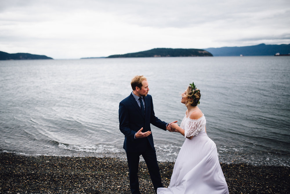 Kris & Sarah - Seattle Coast Wedding