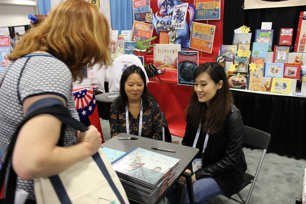 Muon Van and me signing copies of our book at the ALA Conference in San Francisco.