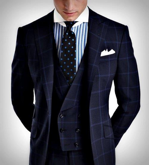 Blue Windowpane Plaid Suiting - I.jpg
