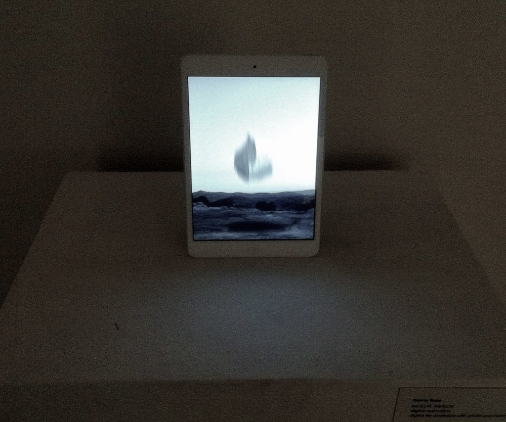 installation view, opposite wall, animation from   METEOR, METEOR