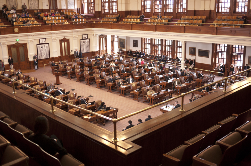 "The floor of the Texas House of Representatives where the ""I See You"" artists were recognized."