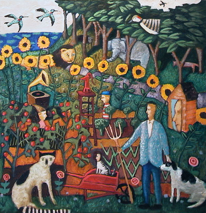 Garden 48x48 Oil on Canvas 2005 Private Collection