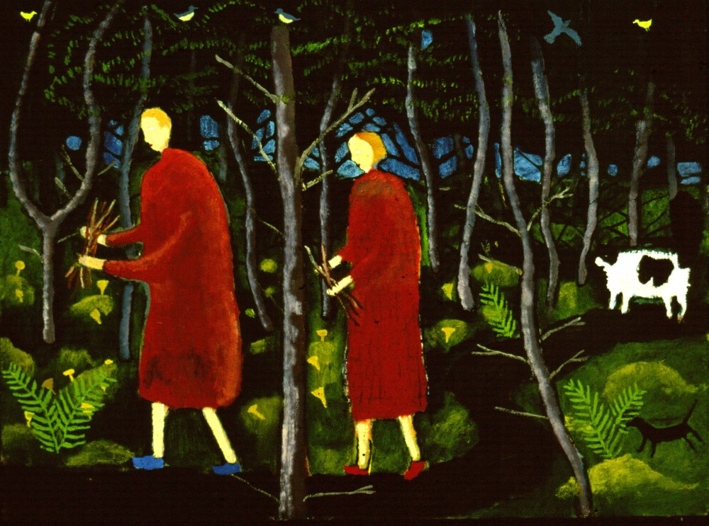 Gathering Wood, 24x32, Oil on Canvas, 1992, Private Collection