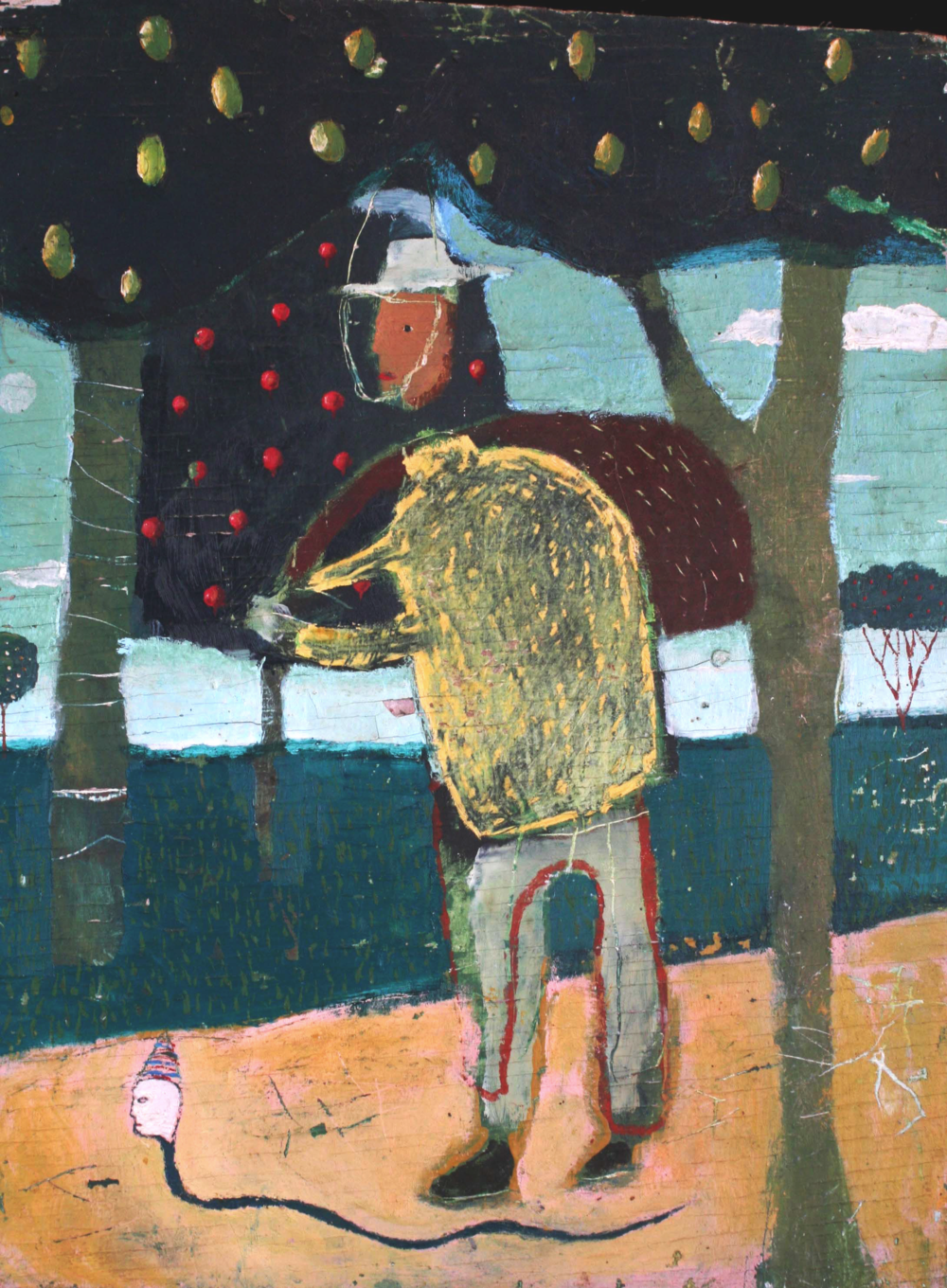 Pecan Seller 12x16 Oil on Panel 1989