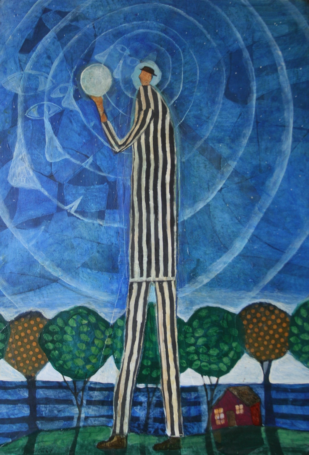 Man and Moon