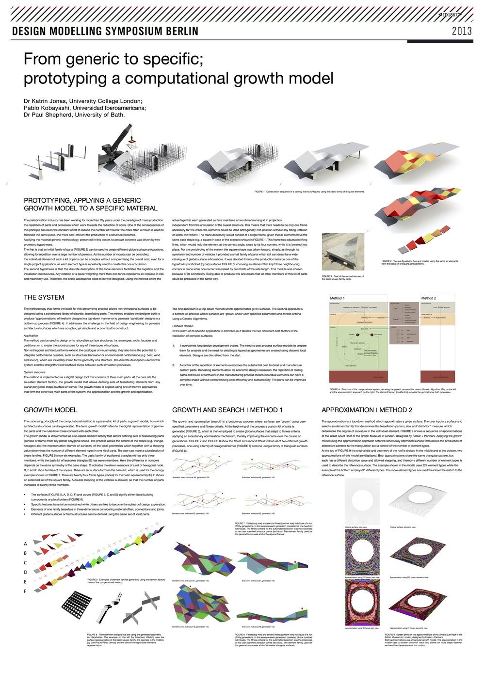 Poster presentado en el Design Modelling Symposium 2013.