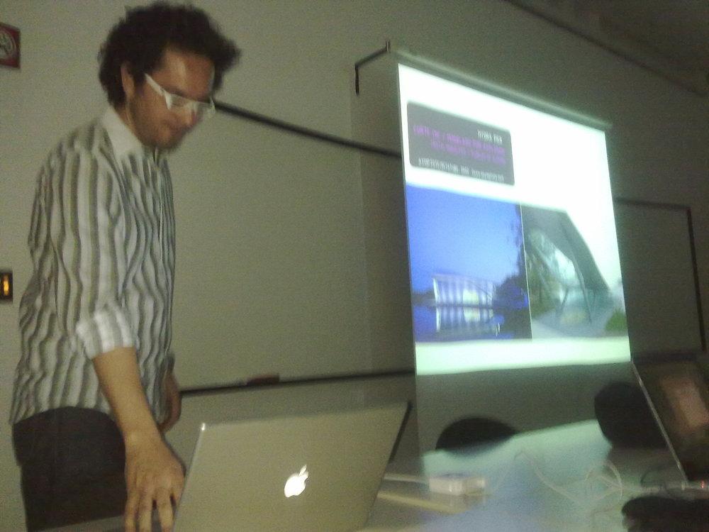 Mariano Arias-Diez durante su presentación