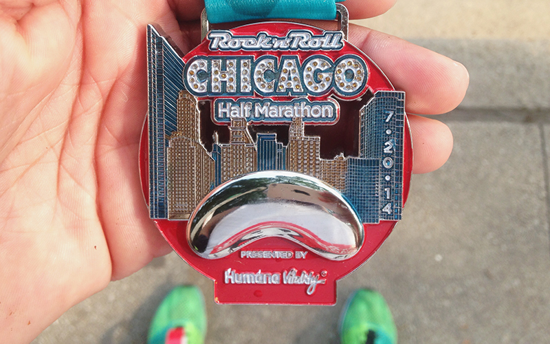 2014 Rock 'n' Roll Half-Marathon Finisher's Medal
