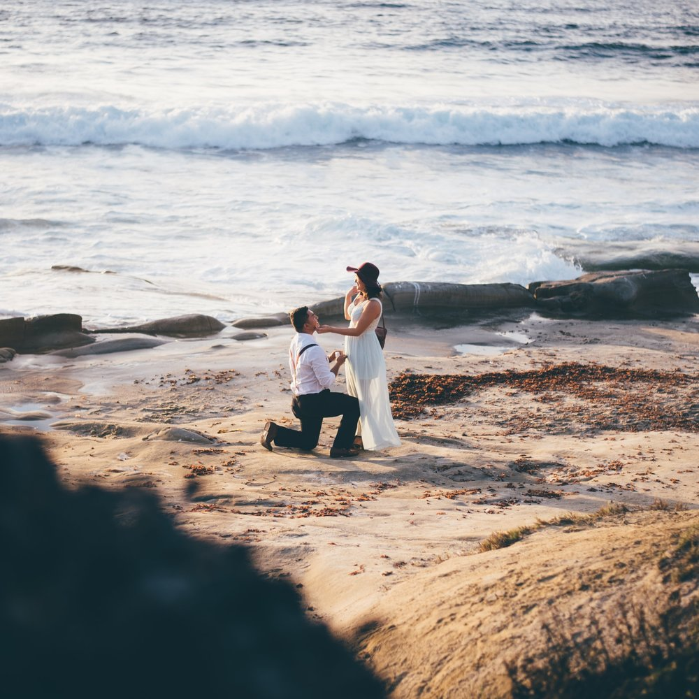 La Jolla Beach Proposal by Debra Alison Photography