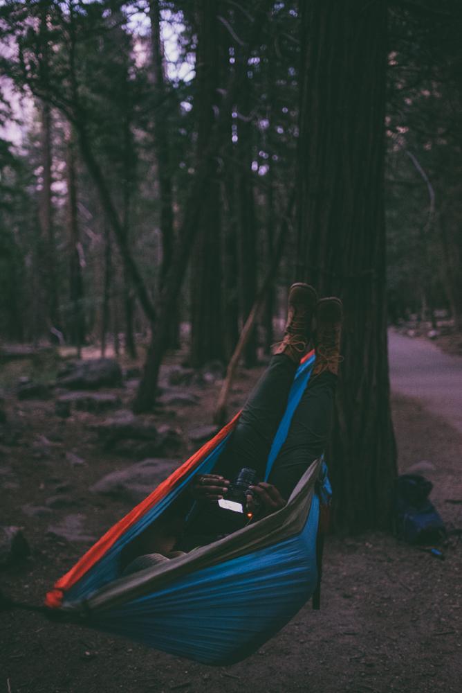 Hammock Camping in Yosemite National Park