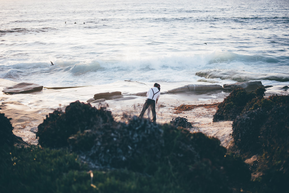Couples Beach Session Engagement La Jolla