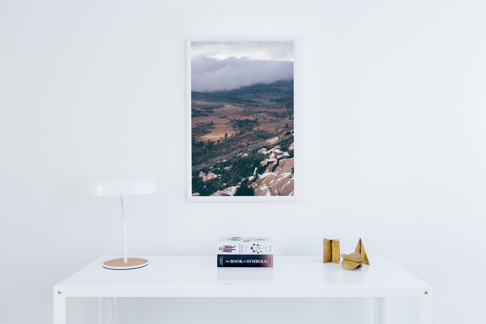 Mountain Fog Fine Art Print San Diego Interior Design
