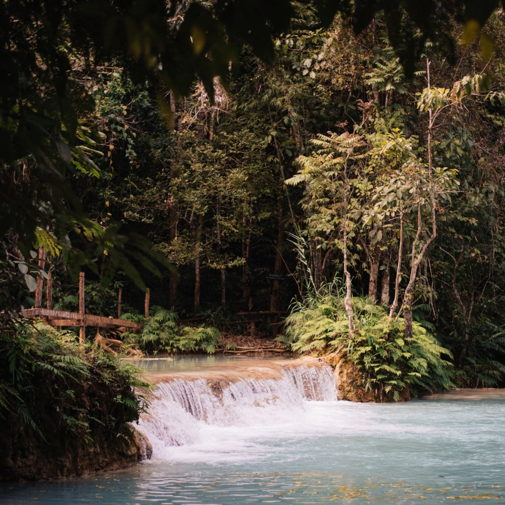 Travertine Waterfall in Laos by Debra Alison Photography