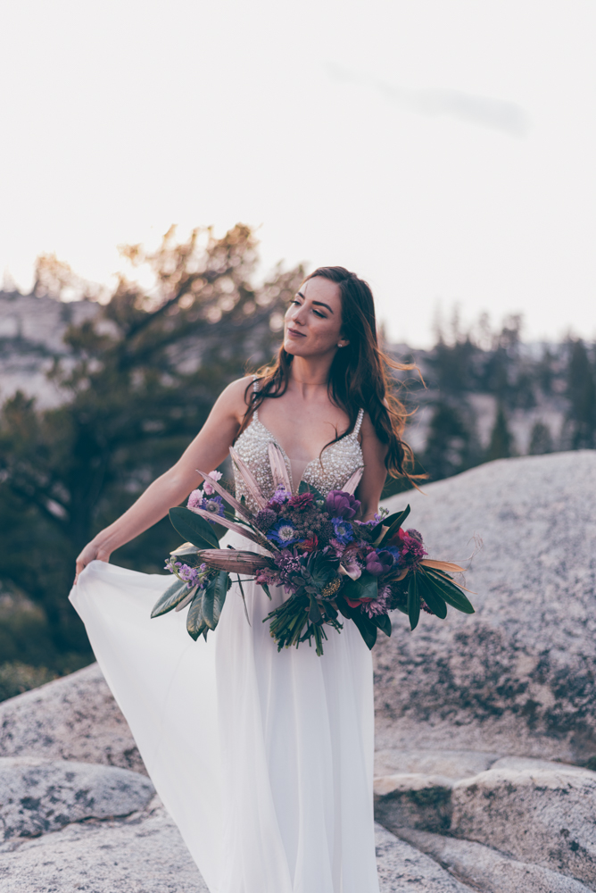 Debra Alison Yosemite Adventurous Elopement Bride Fashion