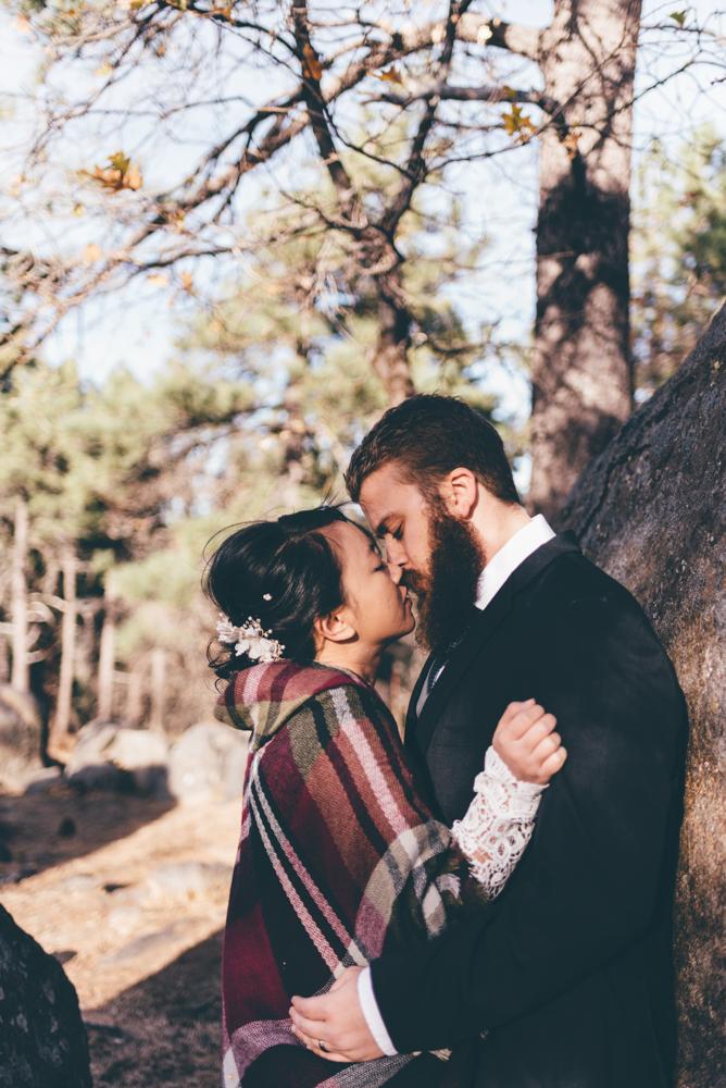 Mountain top Elopement Julian - Debra Alison Photography