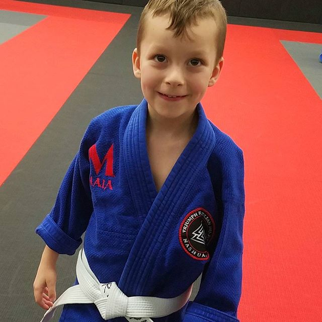 This Guy is so stoked to try on a gi for the first time!
