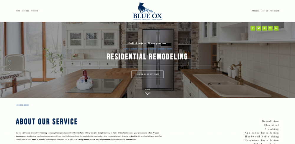 Blue Ox Contracting and Consulting Website