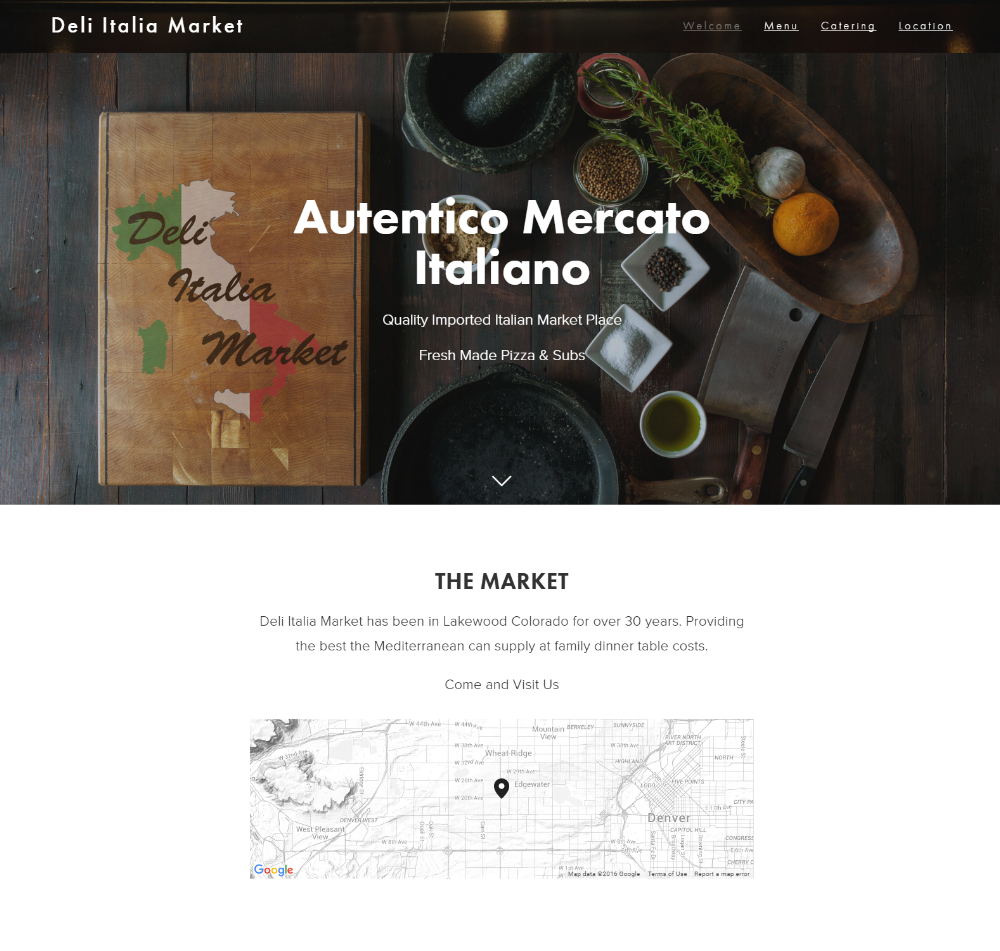 """<a href=""""http://deli-italia-market.com"""" target=""""_blank"""">Deli Italia Market</a><strong>Location based parallax scrolling web architecture with vivid imagery.</strong>"""