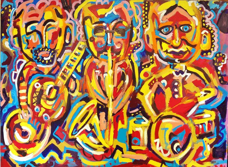 Jazz Trio (48x36)