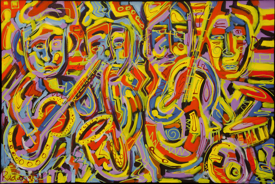 The Quartet   --  SOLD     Acrylic on Canvas (24x36)