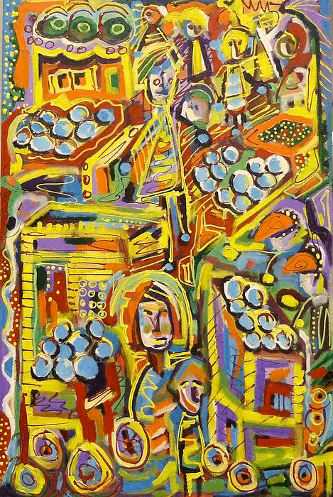 Marketplace      Acrylic on Canvas (24x36)