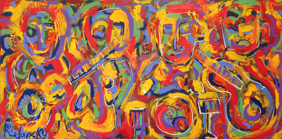 Till The Music Stops (18x36) Acrylic on Canvas  – SOLD