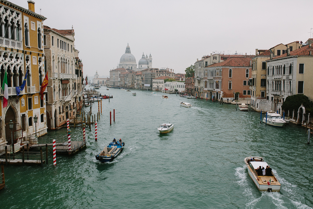 The Grand Canal, looking out towards Santa Maria della Salute, our destination.