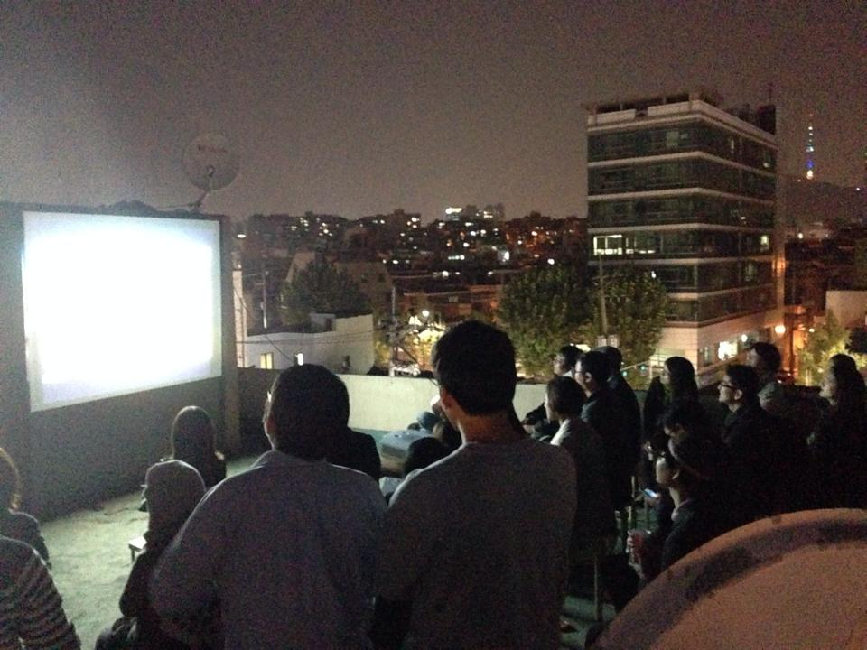 Screening on a rooftop, Korea