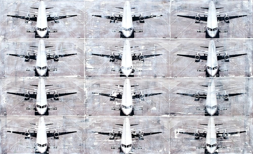 Plane  Mixed Media on 10mm Acrylic/Plexi  115×70 cm