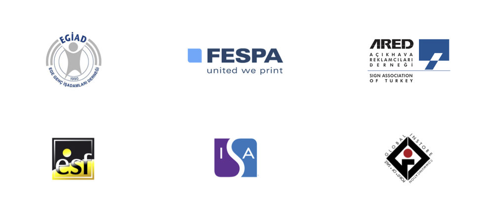 Network - Our company has been active in national and international organizations for over 30 years, including ARED, EGIAD, FESPA, ISA and ESF.In some of these organizations, we undertake responsibilities in their boards.