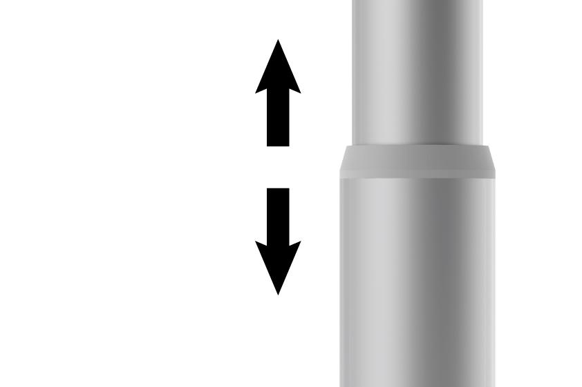 Yükseklik Ayarlı - Özel bir mekanizma sayesinde, herhangi bir alet kullanmadan Banner'ın yüksekliği ayarlanabilir.