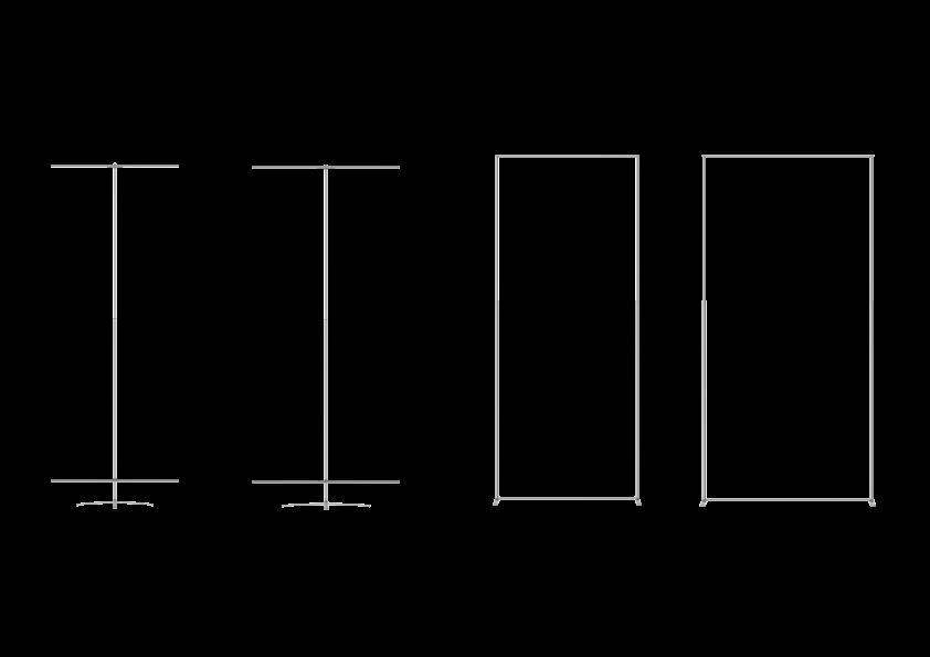 Standart ebatlar - Mevcut olan Frameless Banner ölçüleri;En- 60cm- 80cm- 100cm- 120cm*Özel ebatlar talep üzerine üretilir.