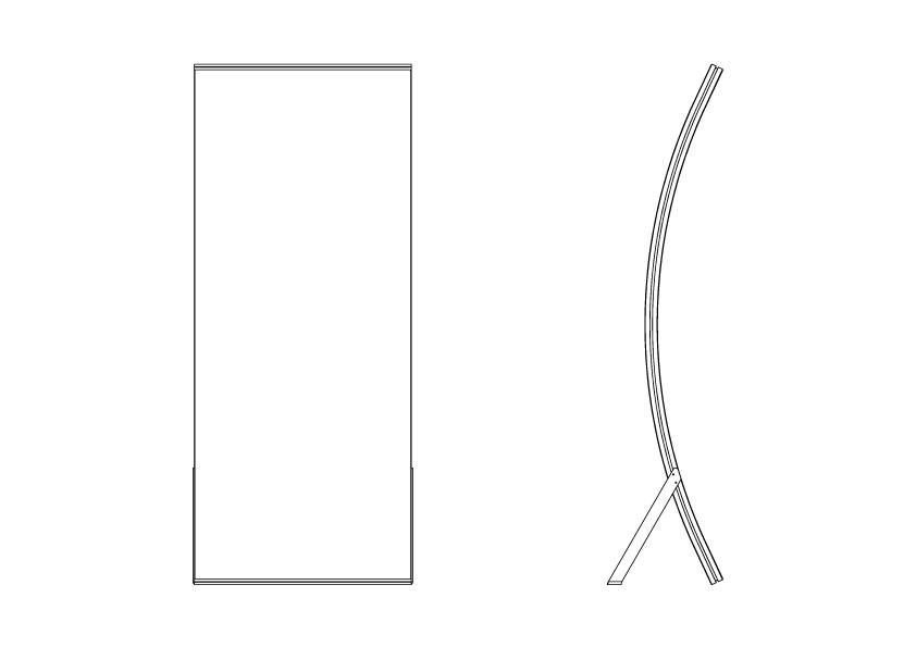 Standart ölçü - Çerçeve ölçüsü(en x boy)80cm x 192cm*Özel ebatlar talep üzerine üretilir.
