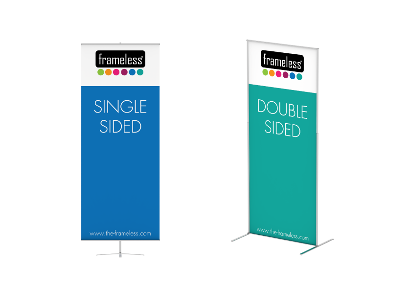 Frameless® Banner - Frameless® Banner is a eye catcher solution for your campaigns. An exceptional advantage is the uncomplicated assembly of the frame. Exchange of the graphics is accomplished in no time as well.