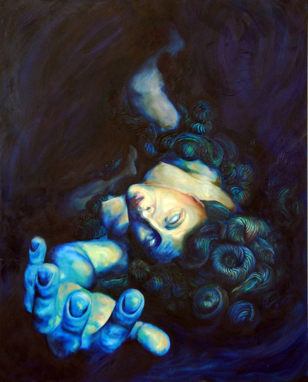 Uncohnscious Soul 1 - 60 by 48- oil on canvas.jpg