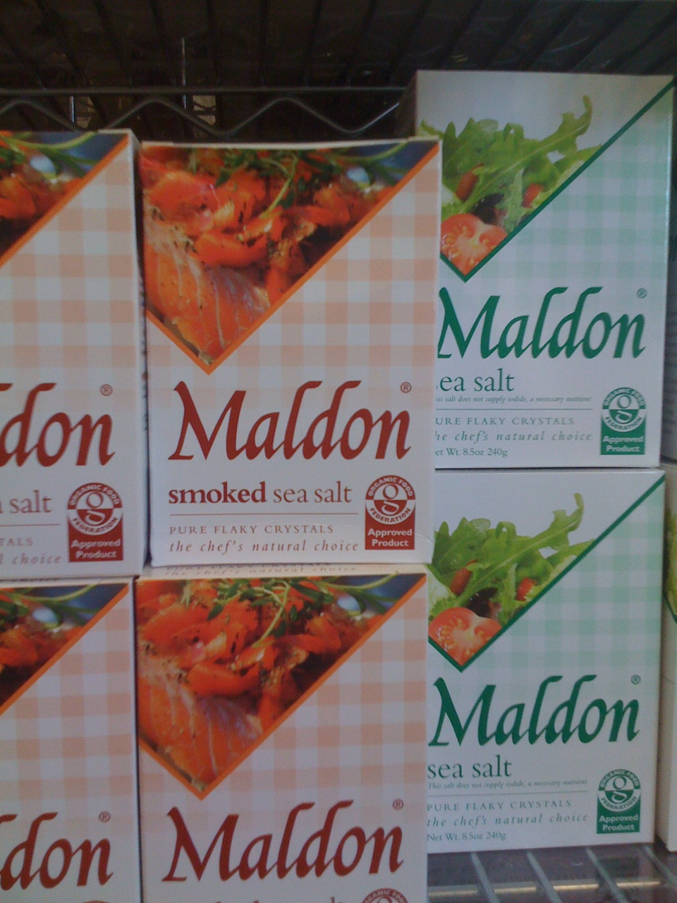 A pantry staple for me is Maldon Sea Salt. It is a larger, flaky salt and has a great clean flavor and is perfect for seasoning steak, chicken, pork, or vegetables for the grill. Also good sprinked on chocolate desserts or caramel… http://www.maldonsalt.co.uk/