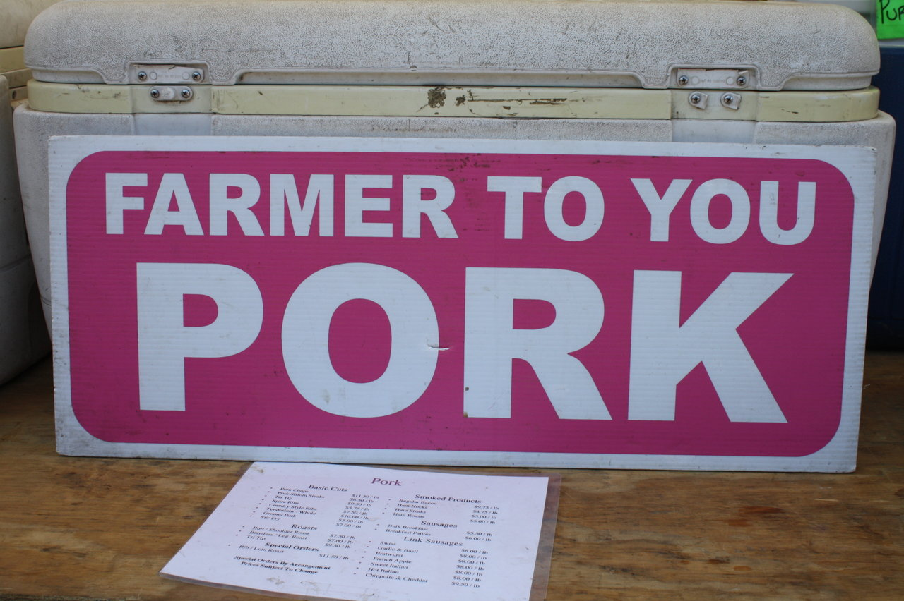 Santa Monica market, 'farm to you' food
