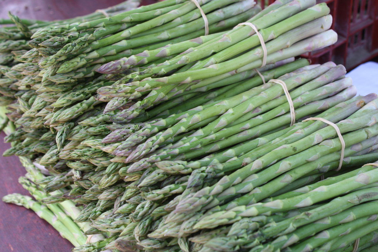 Spring Asparagus at Venice Beach, CA Friday farmer's market