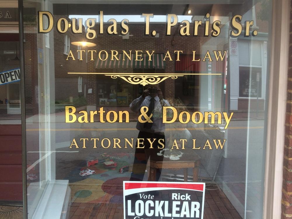 Our Office Shares Space with Douglas T. Paris