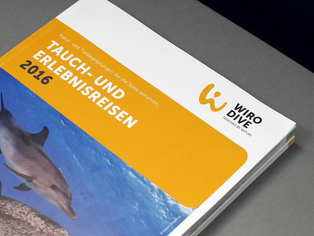 Editorial Design / Katalog Layout  Wiro Dive / Tauchreisen