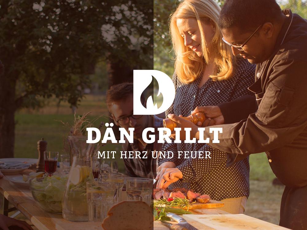 Corporate Design  Dän Grillt - Mit Herz und Feuer