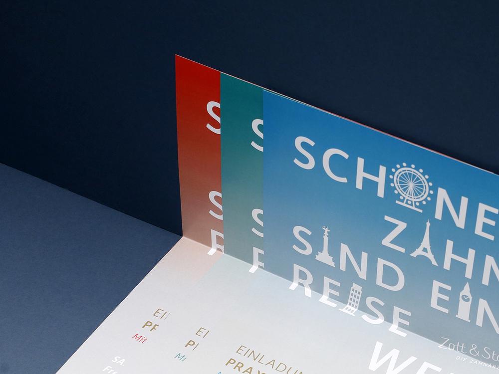 Print Design / Karte & Poster  Zott & Stabel / Zahnärzte