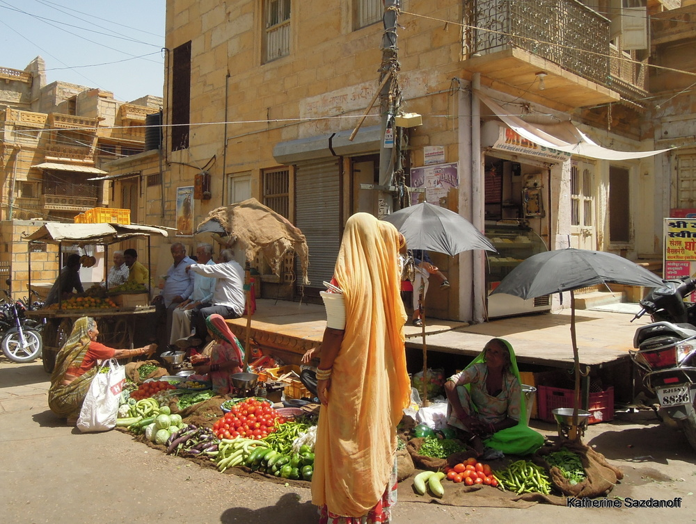 Market in Jaisalmer, India